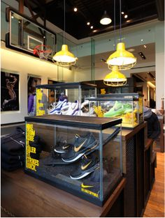 Tanks for trainers Visual Merchandising, Store Plan, Retail Fixtures, Usa Store, Shoe Display, Retail Experience, Shop Interiors, Store Fronts, Retail Design