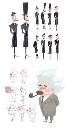Artes de Priscilla Wong para Mr. Peabody  Sherman | THECAB - The Concept Art Blog