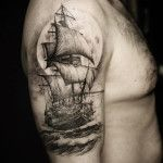 Sailing Ship Arm Tattoo | Best tattoo ideas & designs