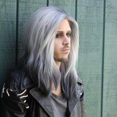 Man colors hair