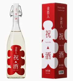 祝酒 大入: Iwaizake: Japanese sake package:  designed by Suisei