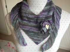 Handknitted Wool Women's Luxury Scarf and by TheHomemadeHaven, £75.00