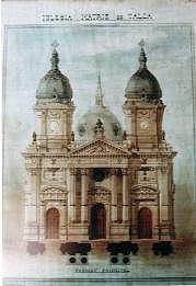 Antigua catedral de Talca , antes del terremoto de 1928