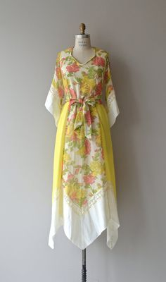 Dawn Chorus dress vintage 1970s maxi dress floral by DearGolden