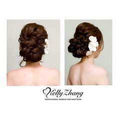 loose updo. love it but without the flowers