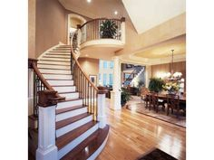Interior, Foyer...love the stair case