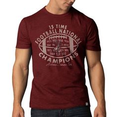 Alabama Crimson Tide '47 Brand Red 2012 BCS Football National Champions Vintage Scrum T-Shirt
