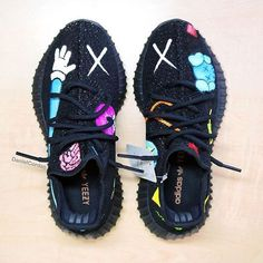 Leather shoes woman - Indie Designs Custom Made Kaws x Yeezy 350 – Leather shoes woman Custom Sneakers, Custom Shoes, Zapatillas Jordan Retro, Hype Shoes, Fresh Shoes, Yeezy 350, Leather Shoes, Sneakers Fashion, Me Too Shoes
