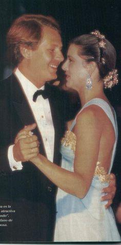 Princess Caroline and Stefano Casiraghi.Red Cross Ball.August 4,1989.