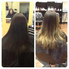 New look. Went from solid color to a soft ombré.