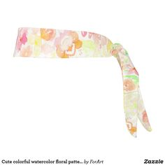 Cute colorful watercolor floral pattern tie headband Tie Headband, Party Hats, All Print, Floral Watercolor, Art Pieces, Symbols, Colorful, Cute, Fabric