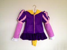 Princess Rapunzel Fleece Girls hoodie shirt. $70.00, via Etsy.
