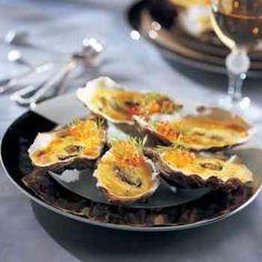 Huîtres gratinées au sabayon de Champagne pour votre repas de fêtes? #recette