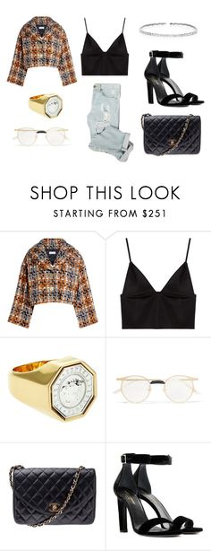 """Untitled #228"" by nuage-orage on Polyvore featuring Sonia Rykiel, T By Alexander Wang, Versace, Gucci, Chanel, Yves Saint Laurent and Suzanne Kalan"
