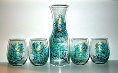 Stemless Wine Glasses & matching Carafe- These are absolutely gorgeous and I just want them :)