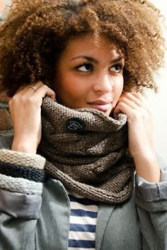 Do I repin under scarves or natural hair?!  I love them both!
