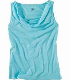 Title Nine: Breeze Tank - These tops make wear and care a breeze. The lightweight quick-dry fabric will keep you cool, even on the most humid of days. Both are made of our Breeze™ fabric, a heathered, wrinkle-fighting blend of poly/rayon/spandex. Flattering drape neck. Only @ T9. XS(2), S(4-6), M(8-10), L(12-14), XL(16)