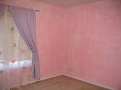 I did a pink base color with a light glaze in a cross-hatch pattern for a little girls room.