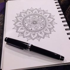 pampong:  Mandala. Back to Black and White. by MagaMerlina on Flickr.