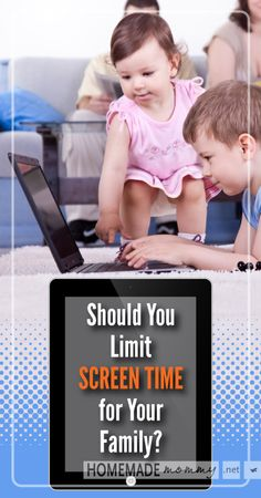 Should You Limit Screen Time for Your Family? | www.homemademommy.net #article #Parenting