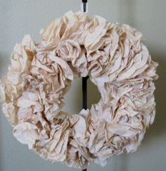 Hand-stained coffee filter wreath by Crafts by Carter