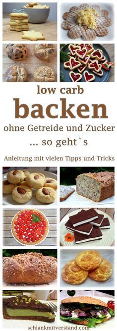 low carb backen – Anleitung mit vielen Tipps und Tricks low carb baking – guide with many tips and tricks Whoever decides for a low carb diet shouldn't have to give up on bread, breads, cakes and biscuits. Low Carb Sweets, Low Carb Desserts, Healthy Sweets, Healthy Baking, Low Carb Recipes, Healthy Recipes, Tasty Meals, Pork Recipes, Menu Dieta Paleo
