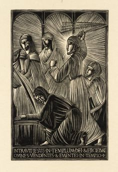 Eric Gill, 'Christ and the Money-Changers' 1919