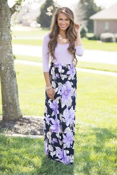 This floral maxi has everything you've been missing and more!