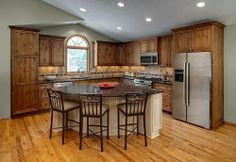 l-shaped kitchens with island   shaped kitchen like mine; mic above stove; island ...   For the Home
