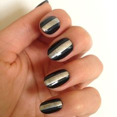 Ombre Stripe Nails