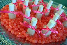 sweet idea for a party favor- bridal or baby- nail polish in a coordinating color