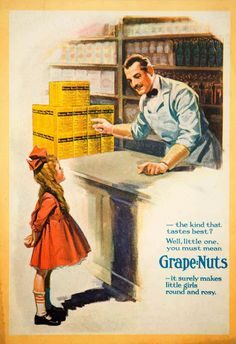 Vintage Recipe Blog: 1919 Grape Nuts, Making Girls Round and Rosy