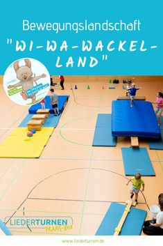 """Bewegungslandschaft """"Wi-Wa-Wackel-Land"""" A movement landscape on the subject of """"Wi-Wa-Wackel-Land"""" for the children's gymnastics in the kindergarten or in the. Lower Body Fat, Pe Games, My Teddy Bear, Life Quotes To Live By, Yoga Art, Gross Motor Skills, Woodland Party, Judo, Social Platform"""