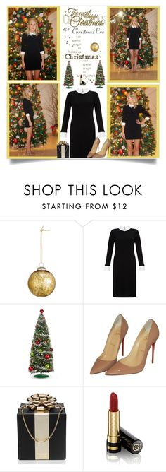 """""""Christmas Eve"""" by malinda108 ❤ liked on Polyvore featuring H&M, Somerset by Alice Temperley, Christian Louboutin, Kate Spade, Gucci, ChristmasTime and martinasmark"""