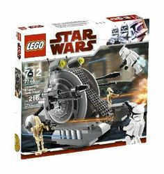 LEGO Star Wars Corporate Alliance Tank Droid (7748) by LEGO. $49.99. 216 pieces. Corporate Alliance Tank Droid measures 6.5 inches (16.5cm) long. Features moving tracks on the Corporate Alliance Tank. Catapult the Clone Troopers, flick missiles. Includes 4 minifigures (2 Battle Droid and 2 jet-pack equipped Clone Troopers). From the Manufacturer                With their rotating center treads and double laser blasters, these armed and armored Separatist droids fight in b...