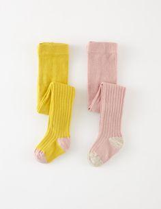 2 Pack Ribbed Tights 78105 Socks & Tights at Boden