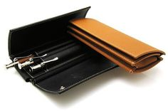Graf Von Faber-Castell [Germany] Smooth Leather Triple Pen Case; Black; Ref: 118800 - £295 - FREE INSURED SHIPPING WORLDWIDE