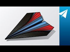 New and Easy Paper Airplane with a Cool Template — Learn How to Make Onslaught Best Paper Plane, Origami Plane, Cool Paper Crafts, Oragami, Airplanes, Templates, Easy, Youtube, Paper Planes