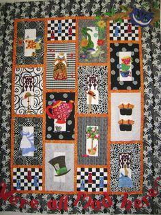 Robin's Quilt Nest Quilt Pattern Designs - Alice In Wonderland