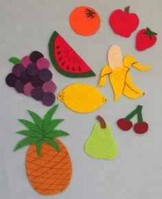 Felt Board activity set - Fruit (10 piece set PLUS a free mystery item) on Etsy, $4.50