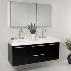 Cool 47 Cool Black Bathroom Vanity Designs Ideas. More at http://decoratrend.com/2018/04/28/47-cool-black-bathroom-vanity-designs-ideas/