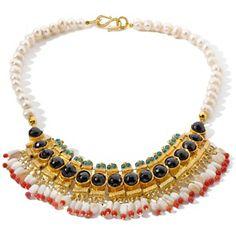 Bajalia Turkish Goldtone Multigem Statement Necklace at HSN.com.