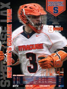 Syracuse Men's Lacrosse Poster 2014- Second of 4 in the series