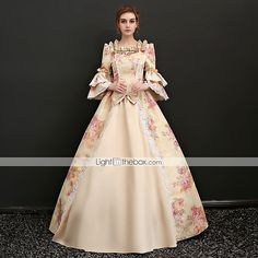 Century Rococo Princess Gowns Marie Antoinette Masquerade Gown Southern Belle Floral Dress Customized Color As Picture Size XS Masquerade Ball Gowns, Ball Gowns Prom, Ball Gown Dresses, Cheap Prom Dresses, Party Dresses For Women, Grad Dresses, Pageant Dresses, Quinceanera Dresses, Long Dresses