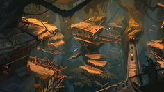 Treetop Village by Raph04art on deviantART 50 min
