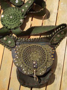 Leather pocket-belt/Holster