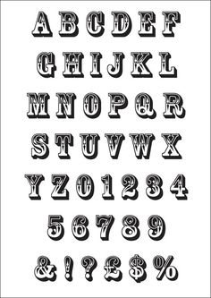 Alphabet Typography- makes me think of circuses Creative Lettering, Lettering Styles, Graffiti Lettering, Brush Lettering, Font Art, Typography Fonts, Circus Font, Signwriting, Desenho Tattoo