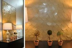 Gorgeous texture...make something like this and hang it behind entry hall mirror