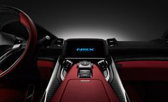 The center console of the NSX concept is aggressively minimalistic, allowing drivers to focus on the driving experience with no unnecessary distraction.