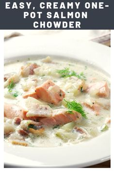 Fish Chowder, Chowder Soup, Chowder Recipes, Soup Recipes, Dinner Recipes, Cooking Recipes, Healthy Recipes, Cake Recipes, Seafood